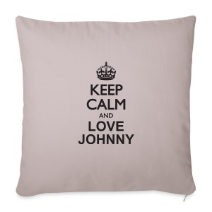 Keep calm and love Johnny - Housse de coussin décorative 44 x 44 cm