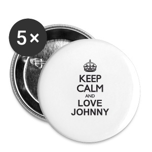 Badge Keep calm and love Johnny - Badge grand 56 mm