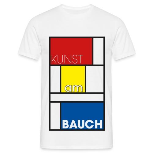 Kunst am Bauch - Männer T-Shirt