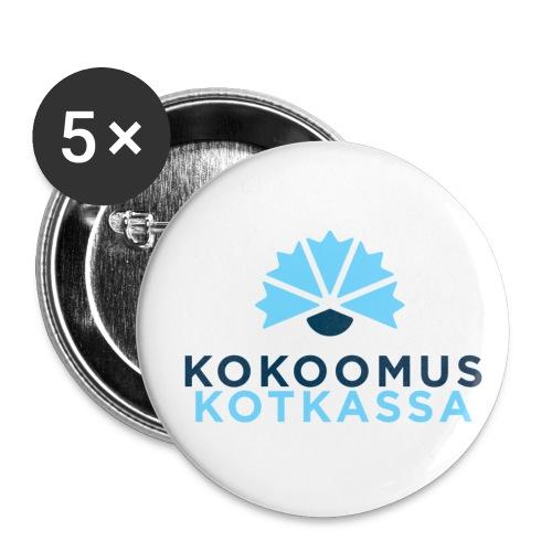 KokoomusKotkassa pinssi - Rintamerkit isot 56 mm (5kpl pakkauksessa)