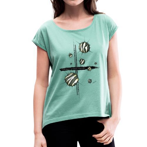 Animal inside - Frauen T-Shirt mit gerollten Ärmeln
