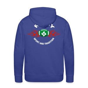Basque Sport and Tradition - Sweat-shirt à capuche Premium pour hommes