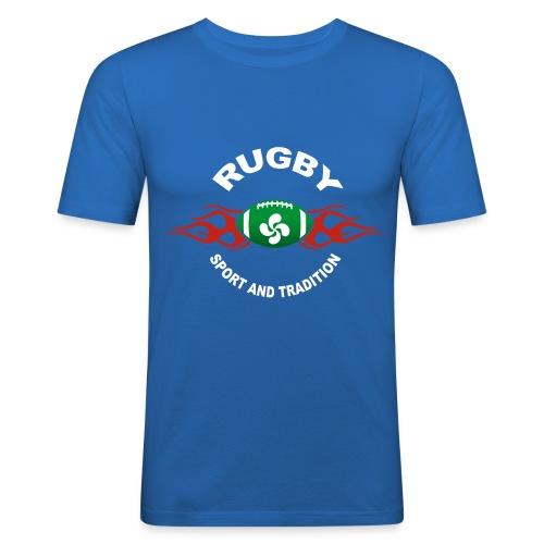 Basque Sport and Tradition - T-shirt près du corps Homme