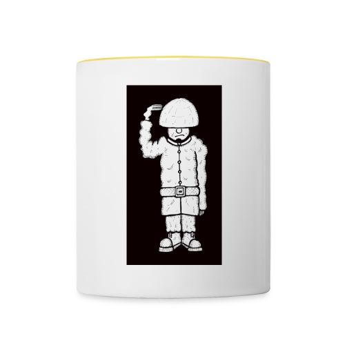 Coloured Black And White Soldier Mug - Contrasting Mug