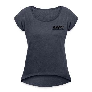 Printed Front & Back - Vrouwen T-shirt met opgerolde mouwen
