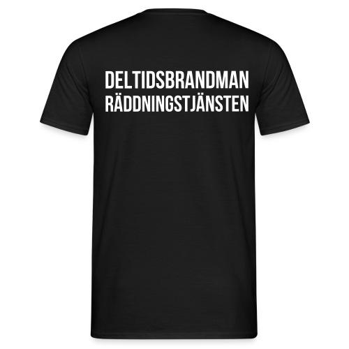 Deltidsbrandman - Vitt tryck - T-shirt herr
