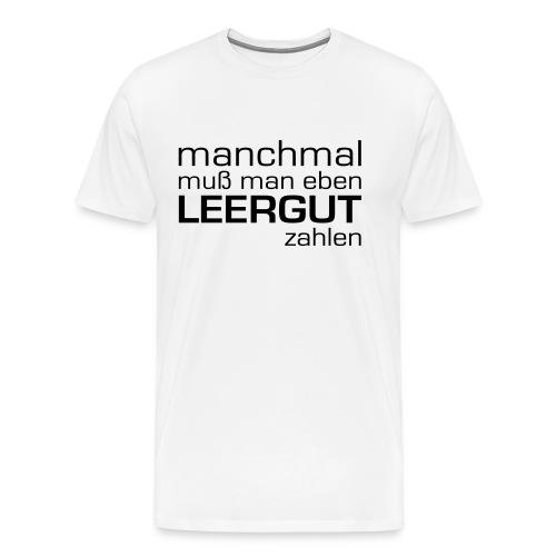 Leergut - Männer Premium T-Shirt