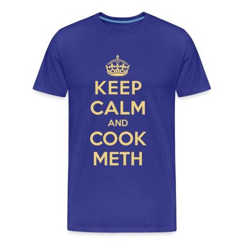 Keep calm and cook meth men - Camiseta premium hombre