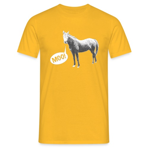 MOO! Horse for Him - Men's T-Shirt