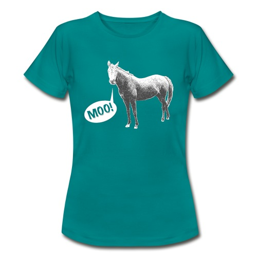 MOO! Horse for Her - Women's T-Shirt