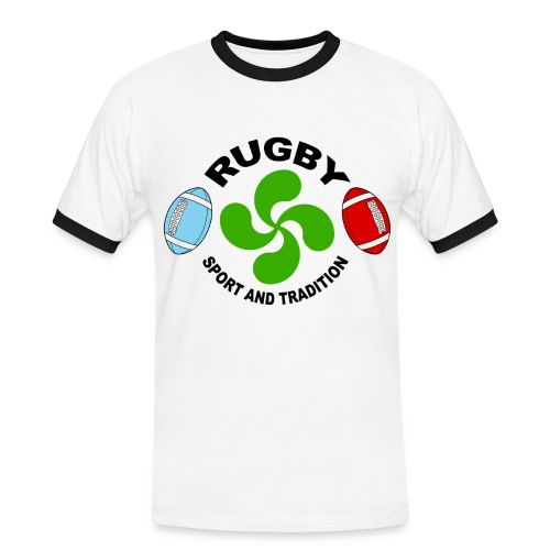 Rugby - Basque sport and tradition - T-shirt contrasté Homme
