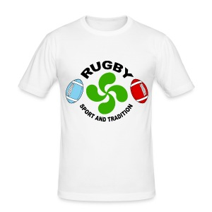 Rugby - Basque sport and tradition - Tee shirt près du corps Homme
