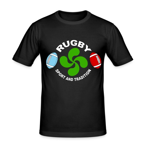 Rugby - Basque sport and tradition - T-shirt près du corps Homme