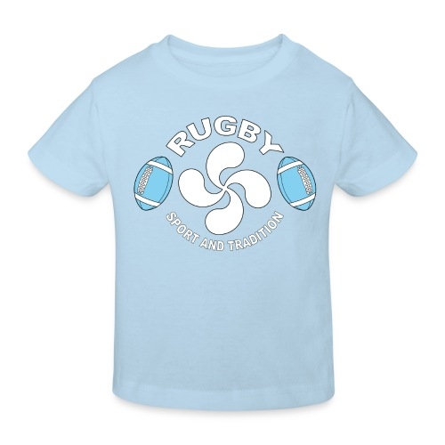 Rugby - Basque sport and tradition - T-shirt bio Enfant