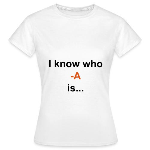 Tee shirt who is A - T-shirt Femme