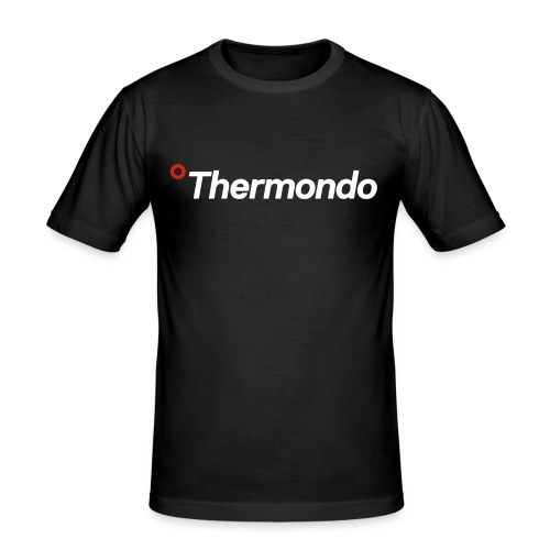 Herren T-Shirt Slim Fit schwarz Logo - Männer Slim Fit T-Shirt