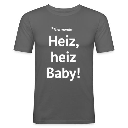 Herren T-Shirt Slim Fit grau Heiz Baby - Männer Slim Fit T-Shirt