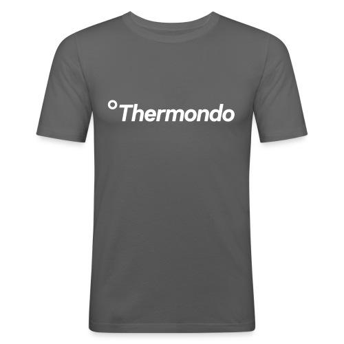 Herren T-Shirt Slim Fit grau Logo - Männer Slim Fit T-Shirt