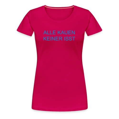Girls dark Pink&Blue - Frauen Premium T-Shirt
