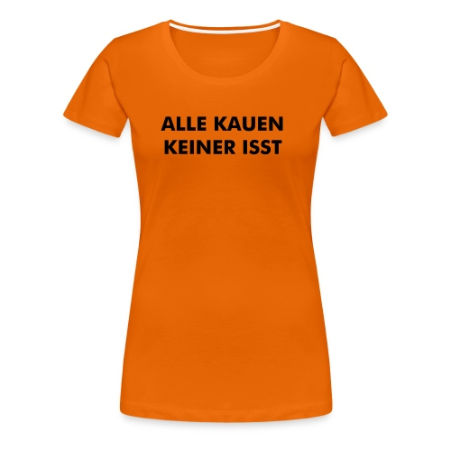Girls Orange&Black - Frauen Premium T-Shirt