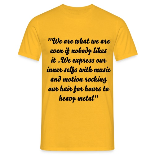 Quote of Metal - T shirt - Men's T-Shirt