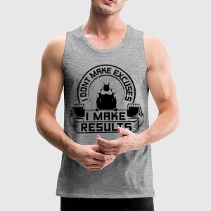 Results Gym Sports Quotes - Men's Premium Tank Top