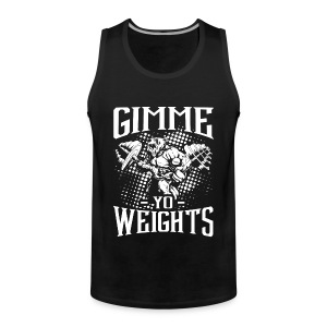 Weights Gym Sports Quotes - Men's Premium Tank Top