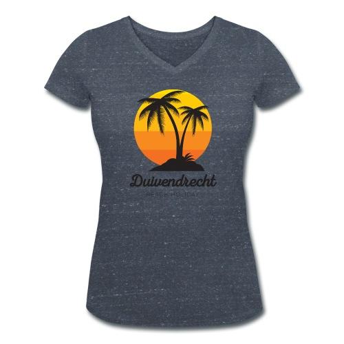 Duivendrecht vrouwen v-hals bio - Vrouwen bio T-shirt met V-hals van Stanley & Stella