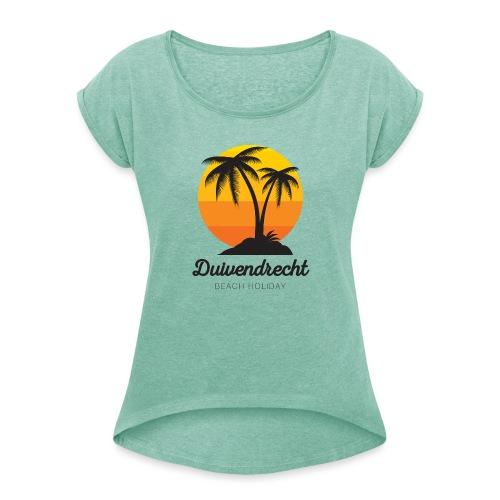 Duivendrecht vrouwen opgerolde mouwen - Vrouwen T-shirt met opgerolde mouwen