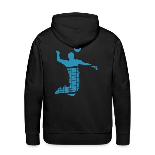 VOLLEYBALL 974-1 - Sweat-shirt à capuche Premium pour hommes
