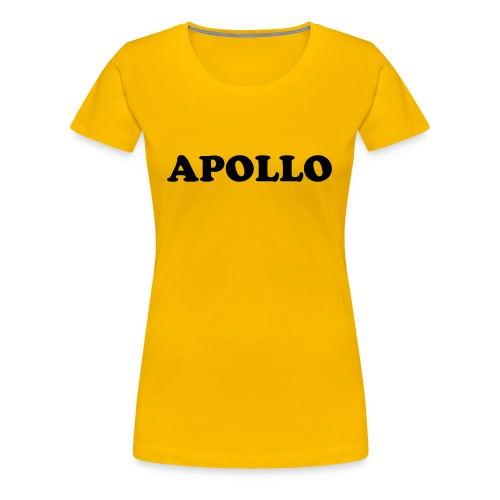 womens  apollo T-shirt - yellow  - Women's Premium T-Shirt