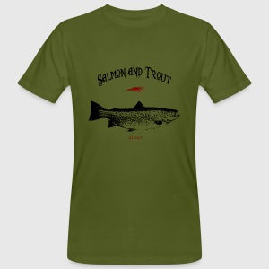 salmon and trout seatrout T-Shirts - Männer Bio-T-Shirt