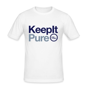 Keep It Pure Navy Blue/Silver Metallic [Male] - Men's Slim Fit T-Shirt