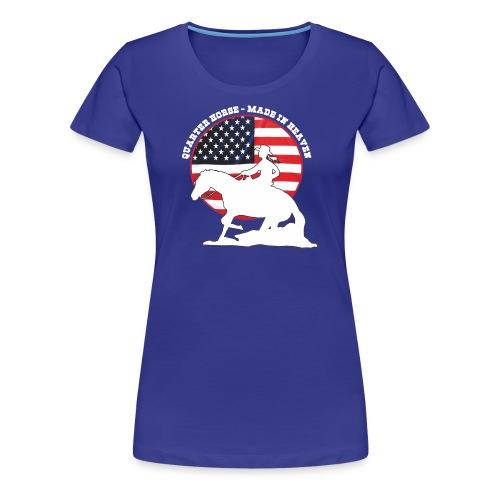 USA Westernreiterin - Frauen Premium T-Shirt