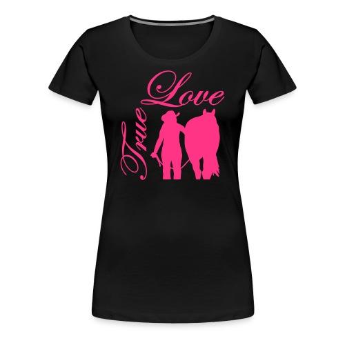 True Love/ Neonpink - Frauen Premium T-Shirt