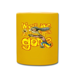 where are all the hippies gone? - Full Colour Mug