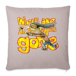 where are all the hippies gone? - Sofa pillow cover 44 x 44 cm