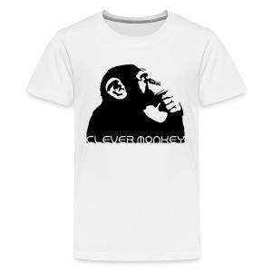 Clever Monkey T-shirt - Teenage Premium T-Shirt