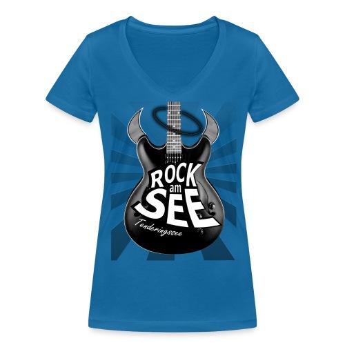 RaS Bad Guitar Frauen - Frauen Bio-T-Shirt mit V-Ausschnitt von Stanley & Stella