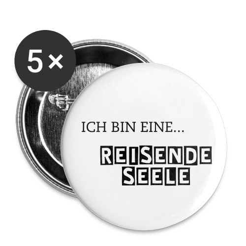 ReisendeSeele - Buttons - 5er Pack - Buttons groß 56 mm