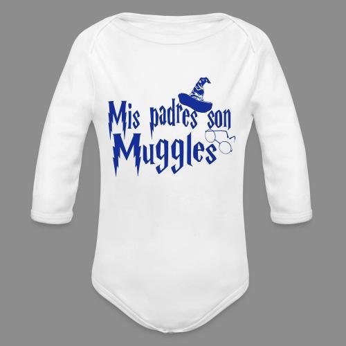 Mis padres son Muggles - Body orgánico de manga larga para bebé