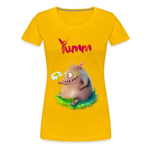 Women's Yumm Premium Yellow - Women's Premium T-Shirt