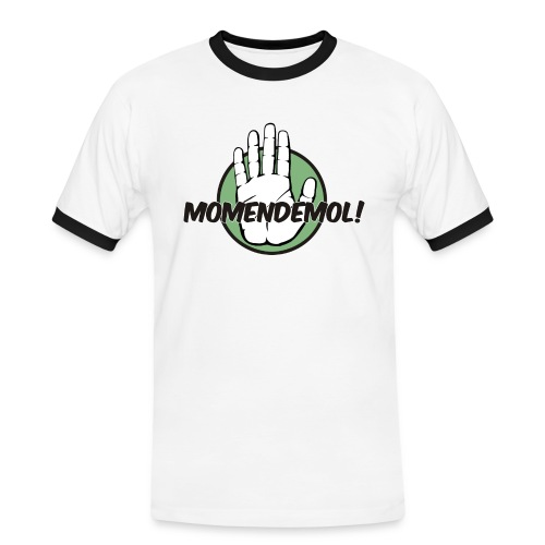 Momendemol! - Männer Kontrast-T-Shirt