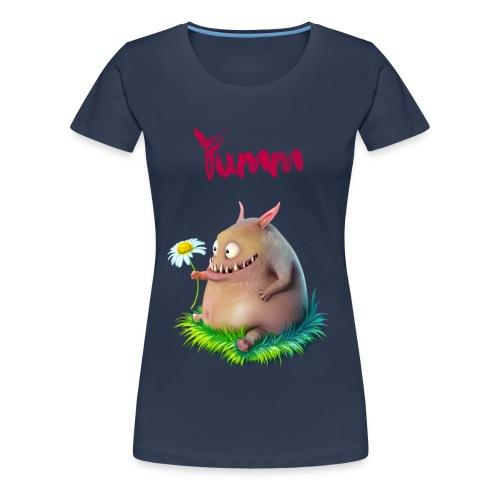 Women's Yumm Premium Navy - Women's Premium T-Shirt