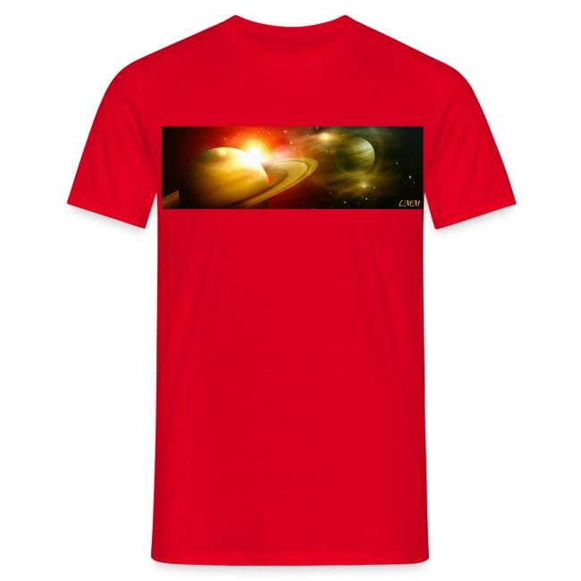 """T-shirt homme rouge """"Le dais du ciel"""""""