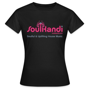 Womens Top with Pink & Metallic Silver Soul Kandi Tree Logo (Choice Of Colours) - Women's T-Shirt