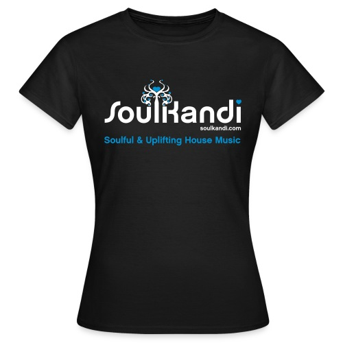 Womens Top with White & Light Blue Soul Kandi Tree Logo (Choice Of Colours) - Women's T-Shirt