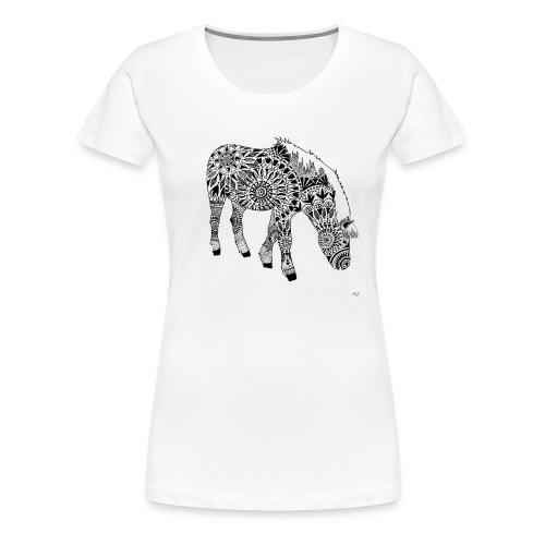 Pferdchen-Tshirt - Frauen Premium T-Shirt