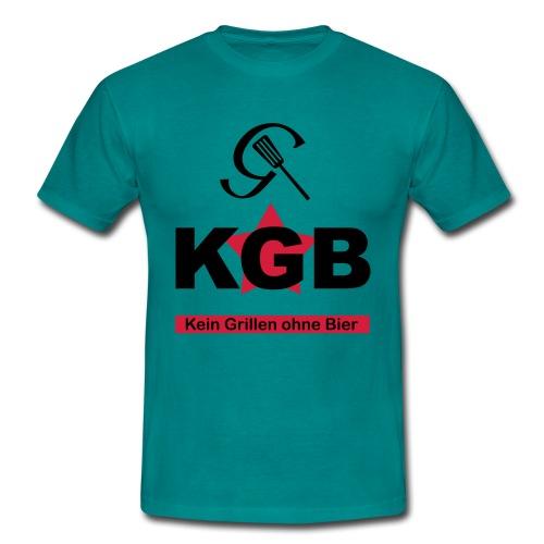 KGB - Kein Grillen ohne Bier - Männer T-Shirt