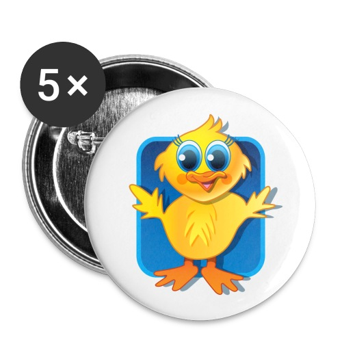 Sqaishey Quack Buttons - Buttons small 1''/25 mm (5-pack)